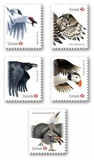 PUFFIN = OWL = RAVEN = QP DIE CUT set 5 BK stamps = Birds of Canada 2016 MNH-VF