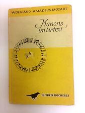 Mozart-Kanons im Urtext Finken- Bücherei 1/2 Woters, Gottfried (Herausgeber):