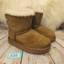 Toddlers UGG Australia Dixi Flora Tan Sheepskin Pull On Ankle Boots UK 8 Infant
