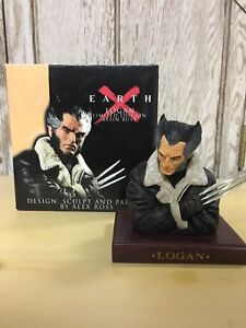 """Earth X Logan 2001 Wolverine Bust Limited 3974/8900 5"""" Dynamic Forces Alex Ross"""