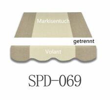 Markisenstoff Zeltst Markisenbespannung ohne Volant 4*3m Neu SPD003
