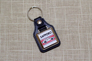 Mitsubishi Sapporo Keyring -  Leatherette Classic Retro Car Keyfob