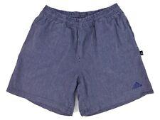 "Mens ADIDAS 'Denim Look' ticking stripes Blue Cotton Casual Shorts Size 30"" GC"