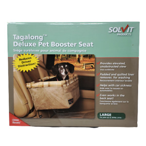 Solvit Tagalong Deluxe Pet Booster Seat Large 16 x 14 x 8 Tan 62346 Large