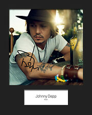 JOHNNY DEPP Signed Photo Print 10x8 Mounted Photo Print - FREE DELIVERY
