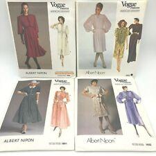 Lot 4 Vogue Designer Albert Nipon Sewing Patterns 1984 1692 1861 2849 UNCUT PT2