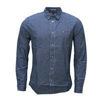 Tommy Hilfiger, Tommy Jeans Herren Hemd, dunkelblau weiß kariert, Regular Fit