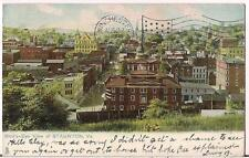 Birdseye View of Downtown STAUNTON VA Raphael Tuck & Sons Antique 1907 Postcard