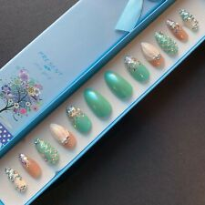 """Hand Painted False Nails Stiletto (or ANY) """"Under the Sea"""" Mermaid Ocean Theme"""
