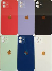 iPhone 12mini Akkudeckel Backcover Rückseite Schwarz Rot Blau Weiß Violett Grün