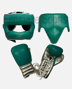 New Custom Boxing Gloves  Genuine Leather lace Up Training Punching Set