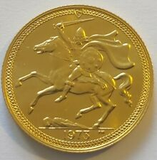 More details for scarce isle of man 1973 22ct gold sovereign in high collectable grade. 7.9g k84