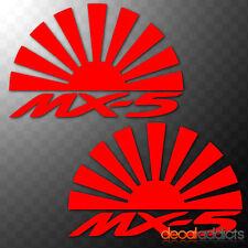 2x Mazda MX5 Rising Sun Arcs - Vinyl decals stickers JDM Eunos Roadster