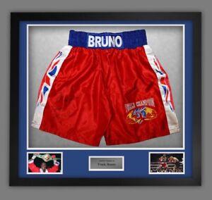 Frank Bruno Signed Framed Boxing Shorts £125