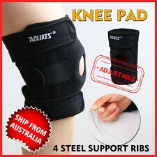 Adjustable Flexible Metal Knee Support Ribs Full Brace Strap Sporting Protector