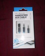 SOUNDLOGIC HANDSFREE AUX CABLE WITH MICROPHONE 4 FT LONG