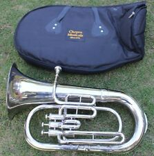 "Euphonium (Tuba) Best Qlty Nickel Bb FLAT 3 V ""CHOPRA ""M/ P & Bag Fast Shipping"