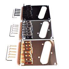 NEW Tele Telecaster Modern Electric Guitar Bridge, 6 Saddles Chrome Black Gold