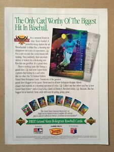 "1992 U.D. DENNY'S GRAND SLAM HOLOGRAMS Original Print Ad, 8 1/8""x10 7/8"""