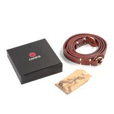 Marrone Vera Pelle Fotocamera Collo Tracolla + scatola-per SLR DSLR RF Leica Digi
