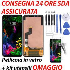 DISPLAY LCD LG G8S THINQ LM G810 LMG810EAW TOUCH SCREEN VETRO SCHERMO NERO