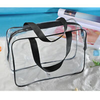 Clear PVC Travel Makeup Bag Cosmetic Toiletry Bag Organizer Zipper 30 x 22cm
