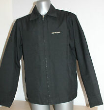 Mens CARHARTT Jacket Black Harrington Size M/L