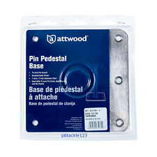 Swivl-Eze Attwood SP-67739-T 7x7 Pin Pedestal Boat Base Plate Brushed Stainless