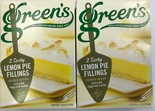 Greens Lemon Pie Filling 70gm x 4 (2 packs of 2) Home Cake Baking Zesty
