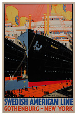 Swedish American Line MS Kungsholm  Poster 24 x 36