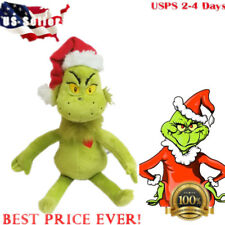 "Usa 15"" Dr Seuss How the Grinch Stole Christmas with Santa Hat Plush Toys Gift"