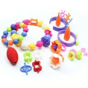 Diy Pop Beads Girls Toys Kids Crafts Bracelets Handmade Jewelry Fashion Kit Gift