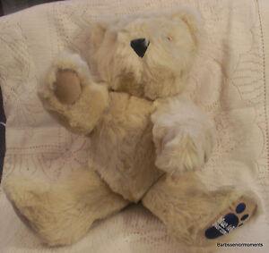"BLUE-FOOT BEAR COMPANY JOINTED TEDDY BEAR~CREAM BEAR ~ NEW ~COLLECTABLE~17"" TALL"