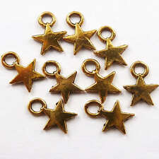 Free Ship 350pcs gold plated star charms 11x8mm