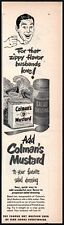 Colman's Mustard. Vintage Ad from Woman's Day 1949 (100311)