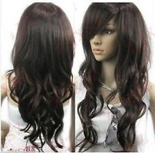 Elegant Vogue brown curl women's Like Genuine human hair wig