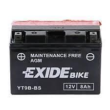Batterie moto Exide YT9B-BS 12V 8AH neuve