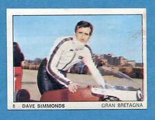 MOTO 2000 - Panini 1972 -Figurina-Sticker n. 8 - DAVE SIMMONDS -Rec