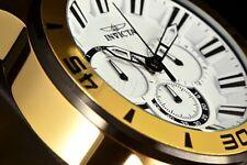 Invicta 49MM Pro Diver Scuba Gen IV White Chronograph Dial Gold Tone Band Watch