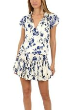 BNWT MISA LOS ANGELES JENA TOP SIZE LARGE BLUE WHITE FLORAL