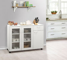Kings Brand Furniture - Buffet Server Sideboard Kitchen Storage Cabinet, White