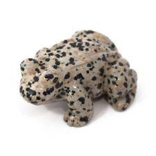 Frog Dalmatian Jasper Hand Carved Gemstone Animal Totem Statue Stone Sculpture