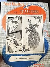 Aunt Martha's Hot Iron Transfers 3297 Beautiful Peacock