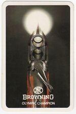 Playing Cards 1 Swap Card Old Vintage BROWNING SHOTGUN Olympic Champion Gun AD
