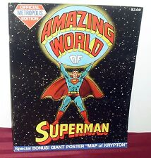1973 AMAZING WORD OF SUPERMAN HUGE COMIC BOOK NEW COND!! W/MAP OF KRYPTON WH55 M