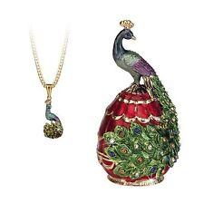 Secrets - Hidden Treasures Peacock Trinket Box NEW in Gift Box