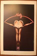 """Nutz First Album A&M & Man. Two sided Vintage 1974 Rock Poster 15"""" X 10"""" p78"""