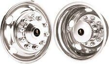 "HINO 258LP TRUCK 19.5"" 10 LUG POLISHED STAINLESS STEEL WHEEL SIMULATOR COVERS"