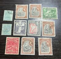 ANTIQUE VINTAGE BRITISH GUIANA STAMP COLLECTION MIXED STAMPS LOT