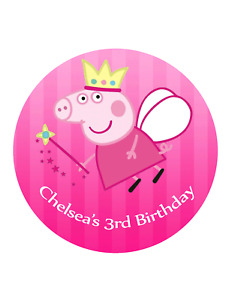 Peppa Pig  Edible Cake Image Personalised Birthday Decoration Topper